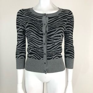 Express Size S Animal Print Cardigan Sweater 6e279e1a3e